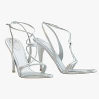 silver sandals caovilla 3d max