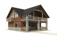 3d model house brick