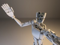 camera robot 3d max