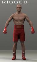 boxer boxing 3d obj