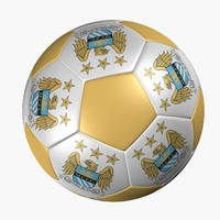 3d model soccer ball manchester city