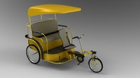 pedicab design 3d model