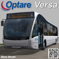 3d model optare versa bus long