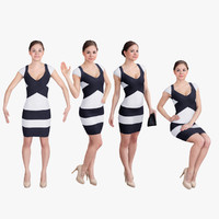 pack woman dress 3d model