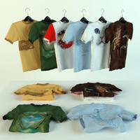 t-shirts 3d max