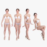 3d model pack woman underwear