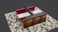 3ds max table booth