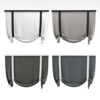 curtains rome 3d max