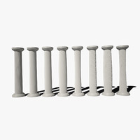 column pillar 8 versions 3d max