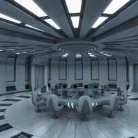 3d futuristic interior model