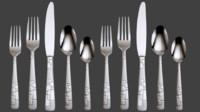 3d utensils model