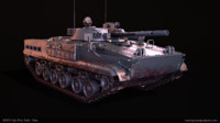 3d bmp3 russian tank