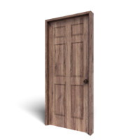 3d walnut door model