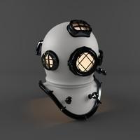helmet pro 7 diving 3d max