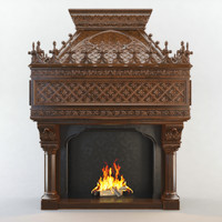 fireplace cnc decoration 3d model