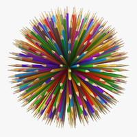 pencil ball 3d max