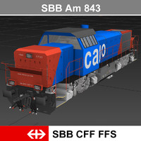 3d model ready passenger train