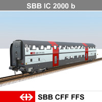 passenger train 3d obj