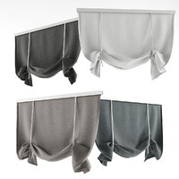 3d model curtains rome