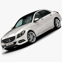 2015 mercedes-benz c-class avantgarde 3d model