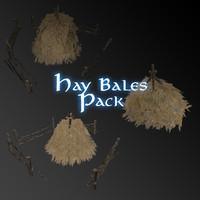3d pack hay bale