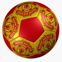 3d soccer ball manchester united model