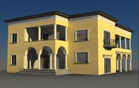 realistic villa 3d model