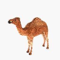 voxel camel 3d model