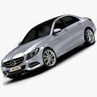 3d model 2015 mercedes-benz c-class avantgarde