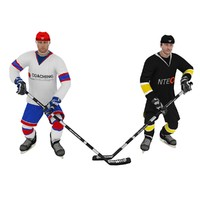 pack hockey poses 3d model