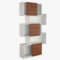 3d model cattelan italia piquant bookshelves