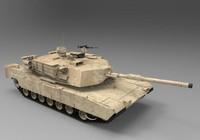 abrams tank 3d max