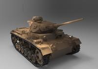 3d military tank model