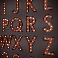 Marquee Alphabet Light Bulbs