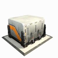 3d model futuristic sci fi container