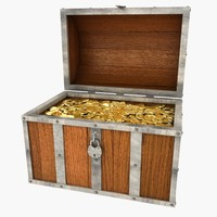 3d treasure chest
