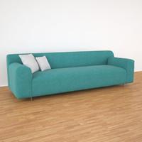 grata rolf benz sofa 3d model