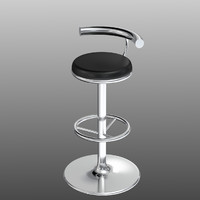 bar stool unwrapped uv 3d model