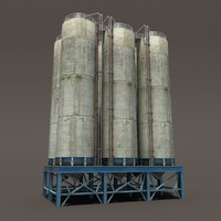 chemical silos 3d lwo