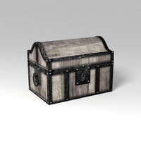 3d model of treasure chest