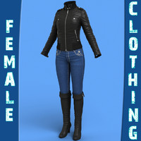 female clothing pack 3d max