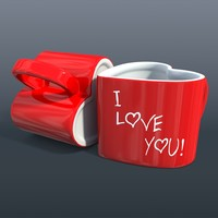 cup heart 3d obj
