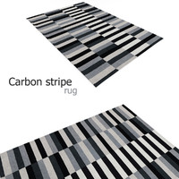 maya carbon stripe rug