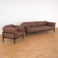 3d model elm set cor leather