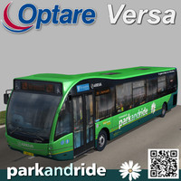 3d model of optare versa bus park