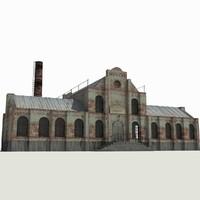 3dsmax old brick factory