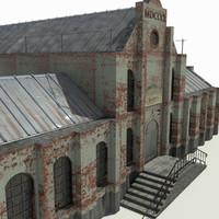 old brick factory 3d max