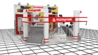 3d model kuzeymak exhibition stand design