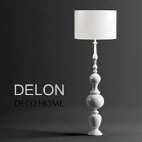 3d floor lamp delon deco model