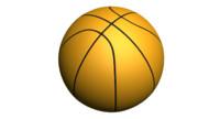 3d model basketball